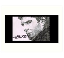 Dean Winchester - Jensen Ackles Hand Drawn and Signed  Art Print