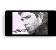 Dean Winchester - Jensen Ackles Hand Drawn and Signed  Canvas Print
