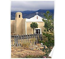 San Francisco Church, Golden, New Mexico Poster