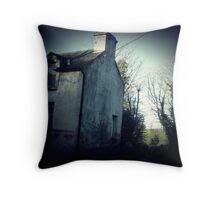 Old bar on the corner . Throw Pillow