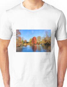 Winter Lake Scene Unisex T-Shirt
