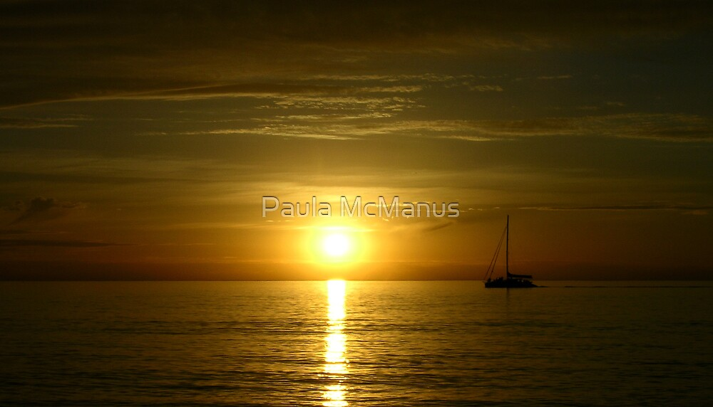 West Beach Sunset by Paula McManus