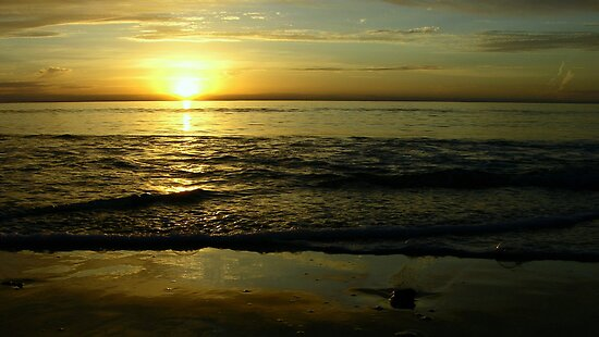 West Beach Sunset II by Paula McManus