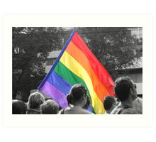 Rainbow Flag Pride. Art Print