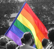 Rainbow Flag Pride. by Alisha Hilton