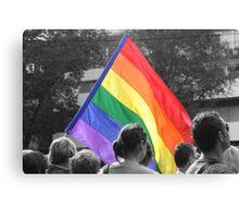 Rainbow Flag Pride. Canvas Print