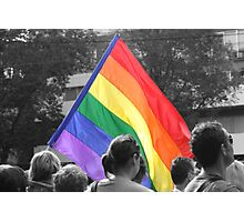 Rainbow Flag Pride. Photographic Print