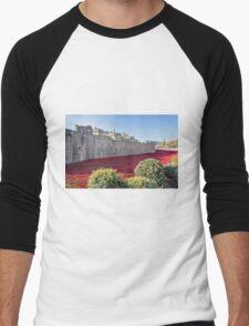 Tower Of London Poppies Men's Baseball ¾ T-Shirt