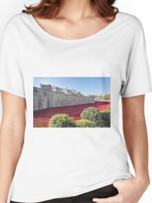 Tower Of London Poppies Women's Relaxed Fit T-Shirt
