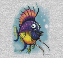Rainbow Fish One Piece - Long Sleeve