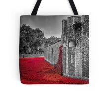 Cascading Poppies, Tower of London Tote Bag