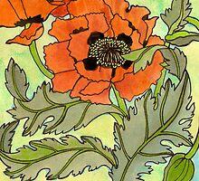 Oriental Poppy by genevievem