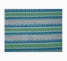 Horizontal White Blue Green Stripes Kids Clothes