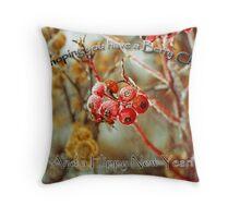 Berry Christmas! Throw Pillow