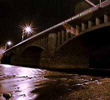 Lorne Bridge at night by Mark Solomon