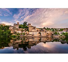 Evening at Puy l'Eveque Photographic Print