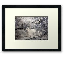 At the river Framed Print