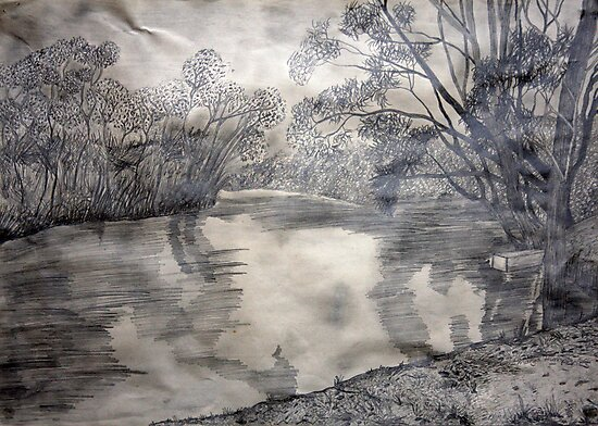 At the river by Margo Humphries