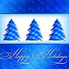 Christmas Tree Abstract by lydiasart