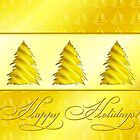 Christmas Tree Gold by lydiasart