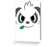 Pokemon - Pancham / Yancham Greeting Card