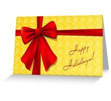 Christmas Bow Greeting Card