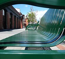 Green seats by Merrilyn Hunt