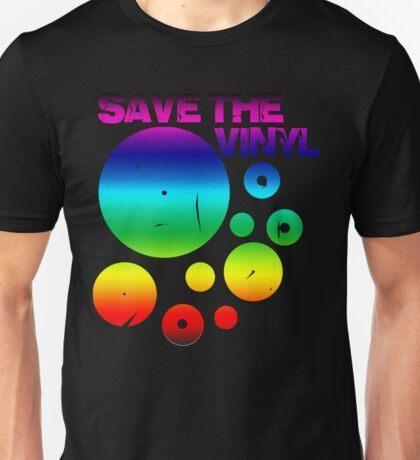 Save The Vinyl colored Unisex T-Shirt