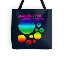 Save The Vinyl colored Tote Bag