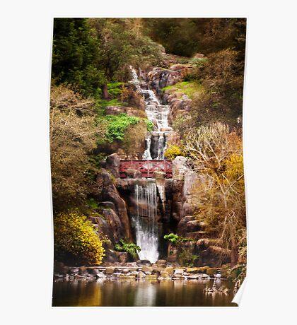 Golden Gate Park Waterfall Poster