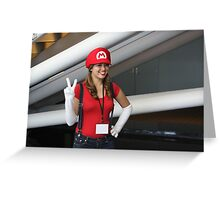 Female Mario!  Mamma Mia! Greeting Card