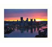 Pittsburgh Skyline at Dawn Art Print