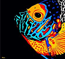 Angel Fish Swimming in the Deep by Saundra Myles