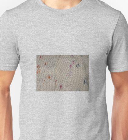 White Knit Rainbow Flecks Unisex T-Shirt