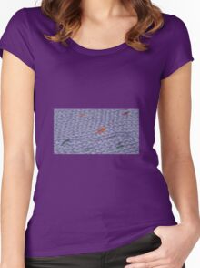 Knit Purple Rainbow Scarf Women's Fitted Scoop T-Shirt