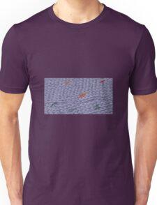 Knit Purple Rainbow Scarf Unisex T-Shirt