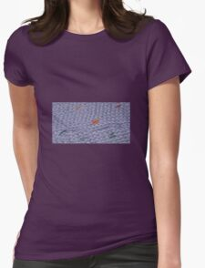 Knit Purple Rainbow Scarf Womens Fitted T-Shirt
