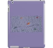 Knit Purple Rainbow Scarf iPad Case/Skin