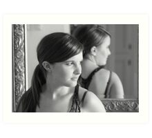 Inside looking out. Art Print