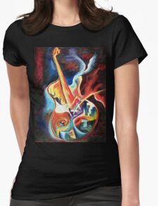 SOUL GUITAR Womens Fitted T-Shirt