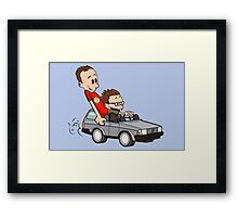 Leonard and Sheldon Framed Print