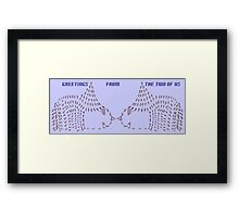 2 cute Framed Print
