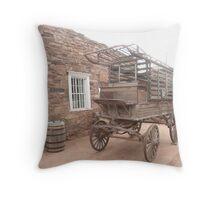 An Old Hospital or Prison Wagon at Hubbel Trading Post. Throw Pillow