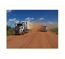 Tilmouth well road Art Print