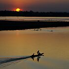 Mekong River Sunset by Craig Shadbolt