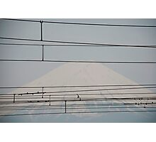 Hazy Mount Fuji   Photographic Print