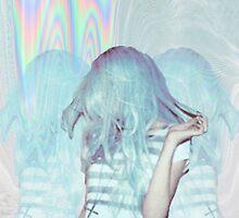 Psychedelic Blue Grunge  by palegrungecat