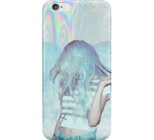 Psychedelic Blue Grunge  iPhone Case/Skin
