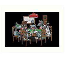 Robot Dogs Playing Poker Art Print