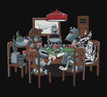 Robot Dogs Playing Poker Kids Tee